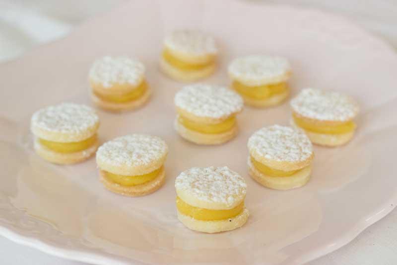 Alfajorcitos de limón